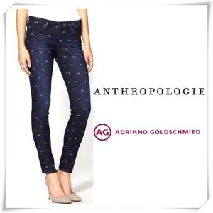 Anthro byAG Jeans Legging Ankle Heart Print Jeans
